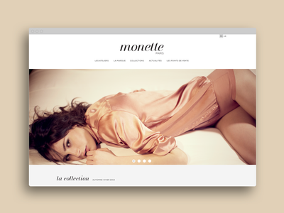 Monette ui ux ergonomics design underwear website brand ecommerce