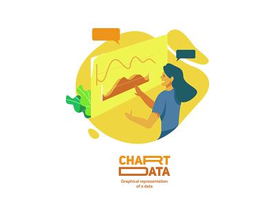 Chart Data : Graphical representation od a data illustration design illustrations illustrator vector flatdesign flat illustration web app ux ui branding illustration design