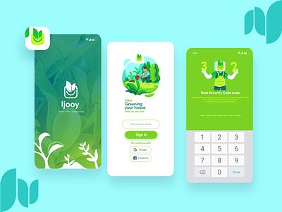 UI design Login page IJOOY App prototype ui design challenge mobile app ui ui design flat illustration website vector web app ux ui branding illustration design
