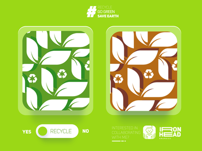 Recycle Pattern save earth go green recycle pattern art flat illustration flatdesign typography logo web app ux branding ui illustration design