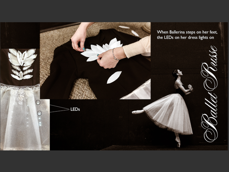 Ballet Russe dance fashion wearable tech graphic  design programming