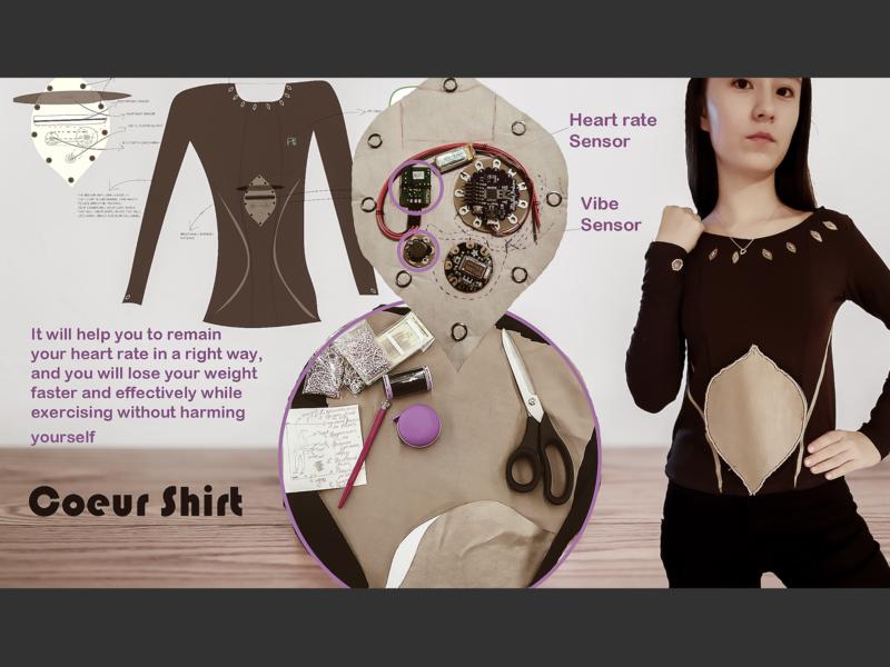 Coeur Shirt for women graphic  design fashion wearable tech programming