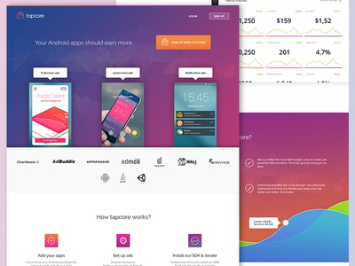 Landing page for tapcore