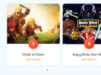 Mobile app recommendation widget