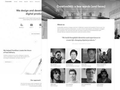 Creative360 New Website Wireframes