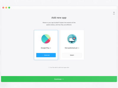 Dashboard: add apps tour welcome onboarding window modal web simple panel minimal dashboard campaigns admin