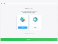 Dashboard: add apps