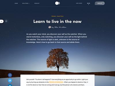 Meditation app blog post meditation typography user interface ui travel simple post minimal layout blog