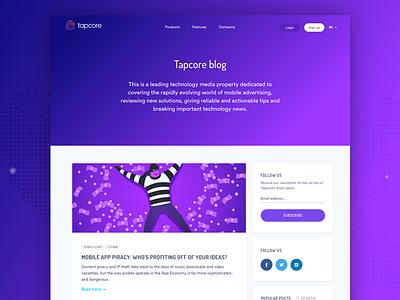 Tapcore Blog List list typography user interface ui travel simple post minimal layout blog
