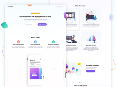 Showcase — landing pages