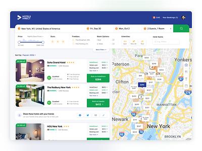 Hotel Booking Aggregator comparison aggregator hotels accomodation reservation booking web app website hotel ui