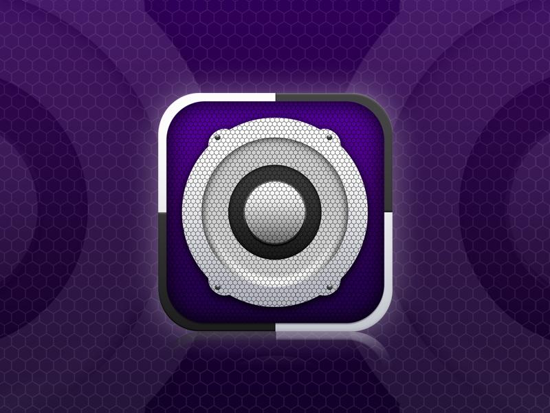 Mobile Icon ios android icon design purple white mobile black