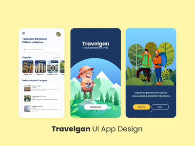 Travelgan UI App Design | Travel Mobile App Design figma ui design ui  ux vector ux uiux uidesign ui illustration