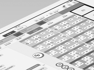 Tablet Bingo App bingo ipad wireframe tablet game