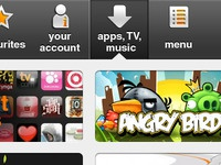 Apps, TV & Music menu