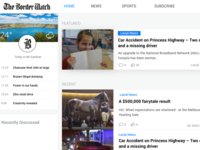 Homepage News Layout