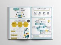 Flyer of service about making manual in company.