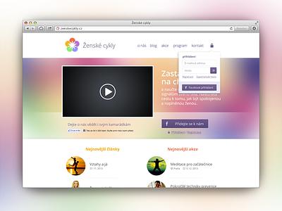 ZenskeCykly.cz web website woman site