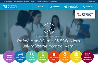 nemocnice-horovice.cz homepage hospital homepage website horovice nemocnice web