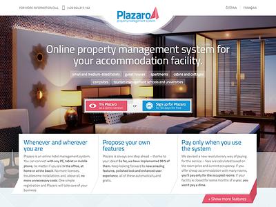 plazaro.com homepage management hotel plazaro homepage website web