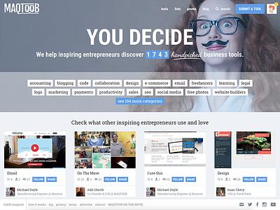 MAQTOOB homepage tools startup homepage website web