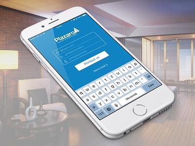 Plazaro iOS app: Login app iphone plazaro ios