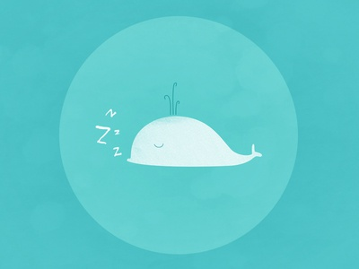 ZzZzz... whale illustration sleep blue white
