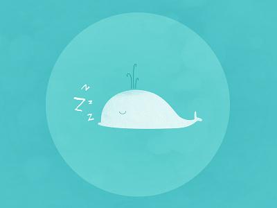 ZzZzz... whale illustration sleep blue white