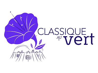 Logo Classique au Vert#3 logo music paris festival summer classical music