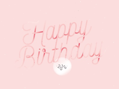 Happy birthday card typography card happy birthday