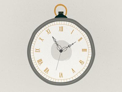 Pocket watch illustration old watch