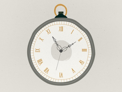 Pocket watch illustration old watch