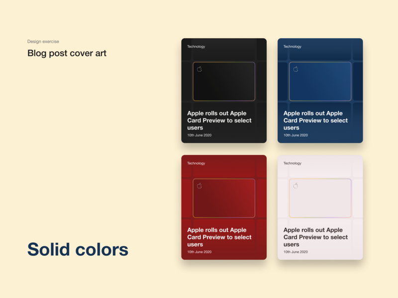 Blog post cover art flat minimal card cards ui blog cover art