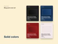 Blog post cover art flat minimal card cards ui blog cover art