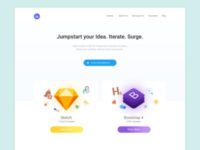 #WeekendHack |  Landing web design