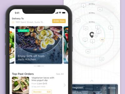 #WeekendHack |  Food delivery iphone X app