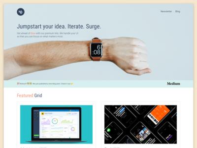 #Exploration | Landing page design using Hero Image