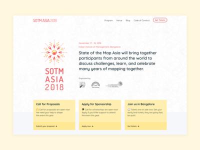 SOTM Asia landing website design