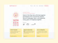 SOTM Asia landing website design