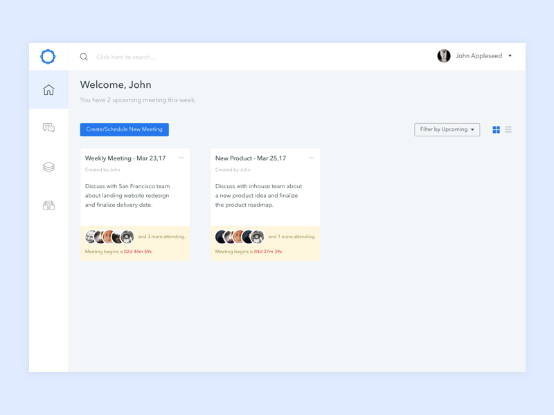 Check-ins for distributed team - Web app web uidesign ux case study communication