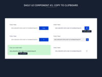 Daily UI Components #1: Copy To Clipboard