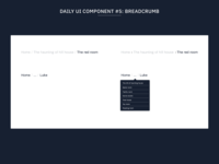 Daily UI Component #5: Breadcrumb