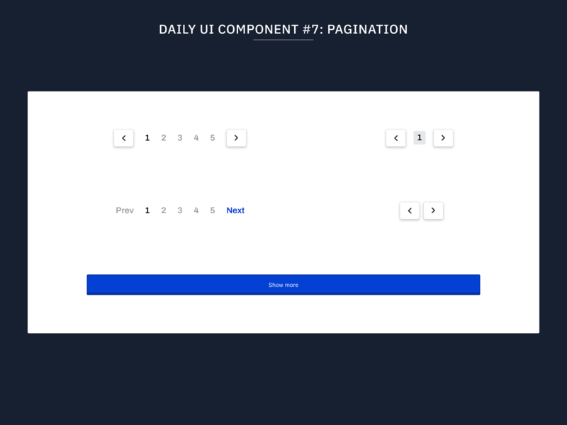 Daily UI Component #7: Pagination design system typography web flat uidesign minimal ux ui design systems web design pagination components component library