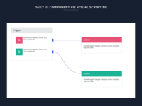 Daily UI Component #8: Visual Scripting
