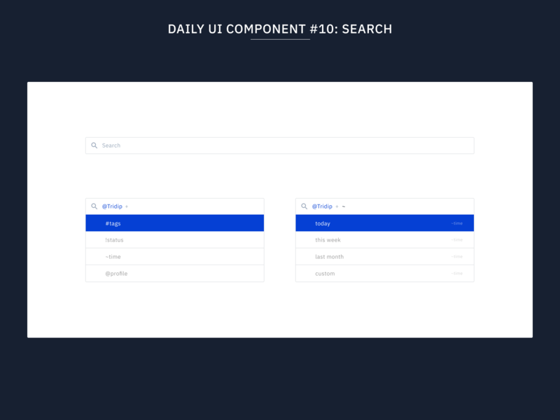 Daily UI Component #10: Search design system web design web flat uidesign minimal ux ui design systems component faceted search search bar components component library