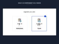 Daily UI Component #11: Radio