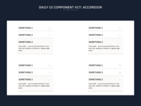 Daily UI Component #17: Accordion flat component web design web uidesign minimal ux ui design systems design system component library components accordion
