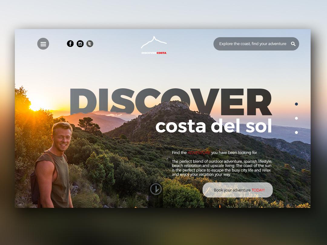 DISCOVER costa del sol minimal website typography web ui design