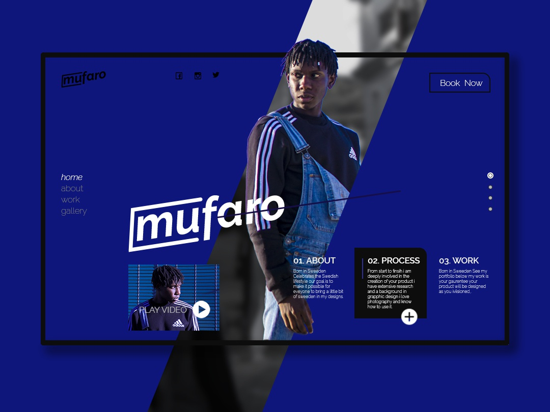 Post 1 branding logo logotype landing page uidesign ui adidas originals fashion model designer portfolio