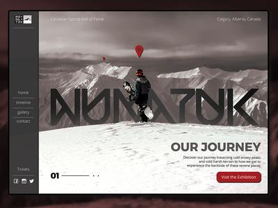 Nunatuk Landing Page jones burton backcountry ski snowboard web ux website uidesign typography logotype logo landing page designer design branding ui